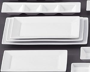 SQ ピュアホワイト27.5cm長角皿