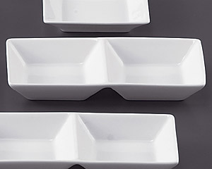 SQ ピュアホワイト2連深皿