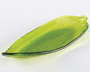 笹の葉中皿(ガラス)