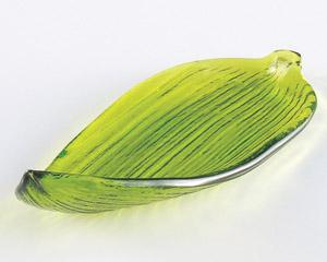 笹の葉小皿(ガラス)