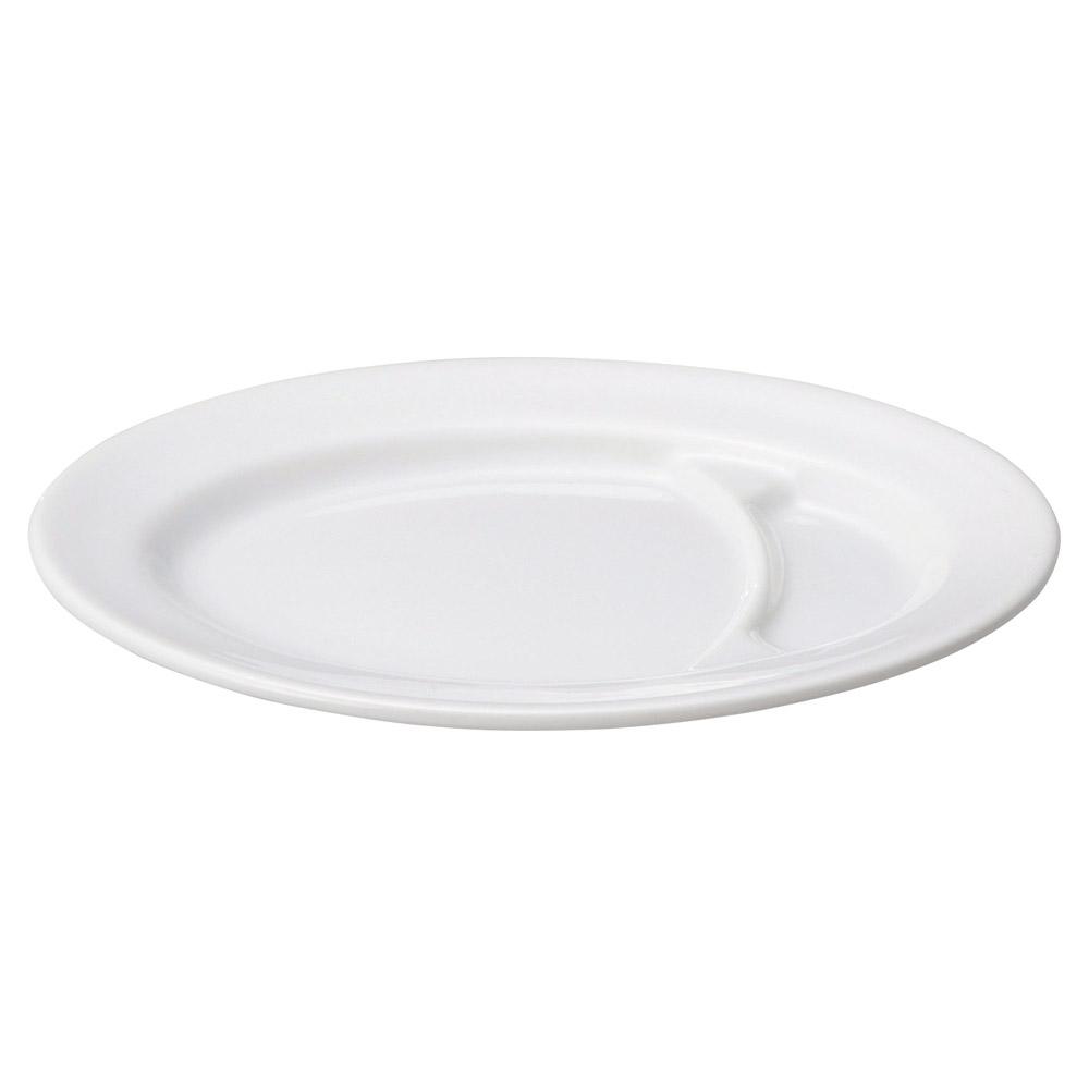 白中華 10吋仕切小判皿