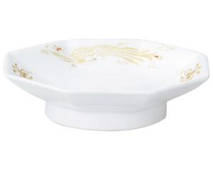 金鳳(強化セラミック) 八角高台皿