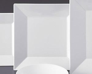 ホワイトスクエアー25cm四角皿
