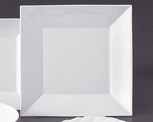 ホワイトスクエアー30cm四角皿