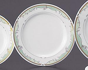グリーンエンペラー(強化磁器)71/2寸ケーキ皿