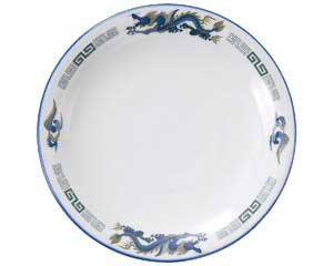ルリ白竜 8.5吋丸皿