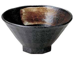 黒結晶 八角4.8飯碗