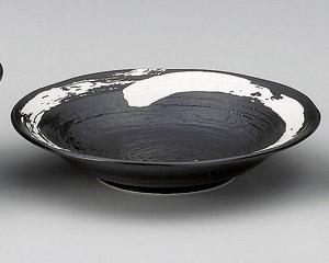 極刷毛黒8.0寸つけ麺皿