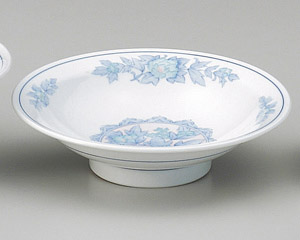 三色牡丹7.0高台皿