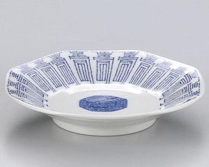 青寿八角皿