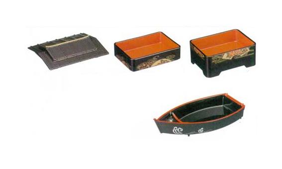 [A]徳川弁当 茶パール扇面 屋形舟 2段セット サムネイル2