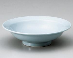 青磁8.0丸高台皿