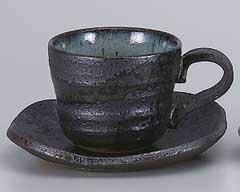 黒オリベ吹コーヒーカップのみ