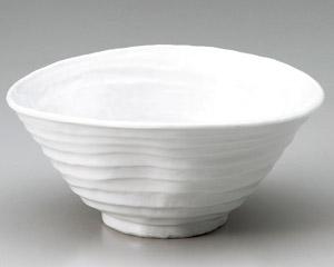 白釉変型7.0丼
