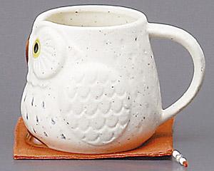 ふくろうマグカップ(白)