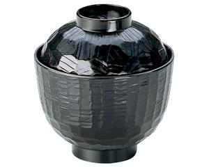 [A]木彫小吸椀黒