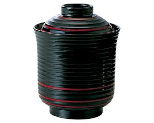 [A]線引き箸洗椀(小)黒朱ひも