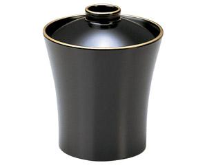 [木質]水仙小吸椀黒茶天金