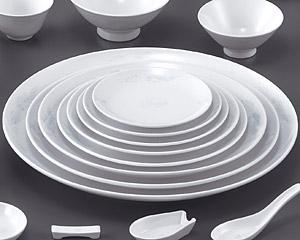 花蓮(スーパーホワイト)(強化)14寸メタ丸皿