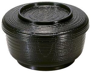 [TA](小)割子飯器 黒[洗]