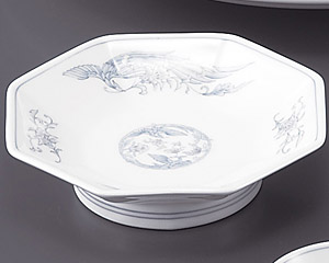 遊鳳(強化)7寸八角高台皿