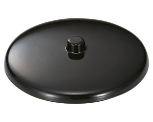 [M]湯呑蓋(つまみ付)黒2.2寸