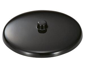 [M]湯呑蓋(つまみ付)黒2.3寸