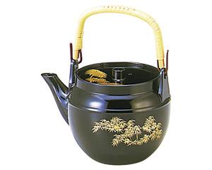 [TA]耐熱ABS土瓶 瑠璃金竹(中)(1?)