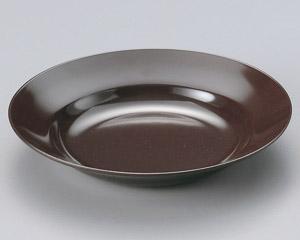 メラミン樹脂製23cm麺皿 茶本体のみ MW−31B