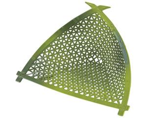 [A]8寸やすらぎ三角篭若竹