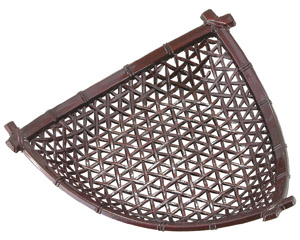 [A]7寸やすらぎ三角平皿茶パール