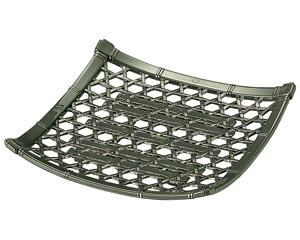 [A]6寸角竹皿 グリーン