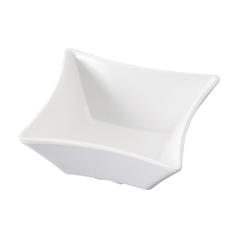[M]スター角小鉢 白グロス