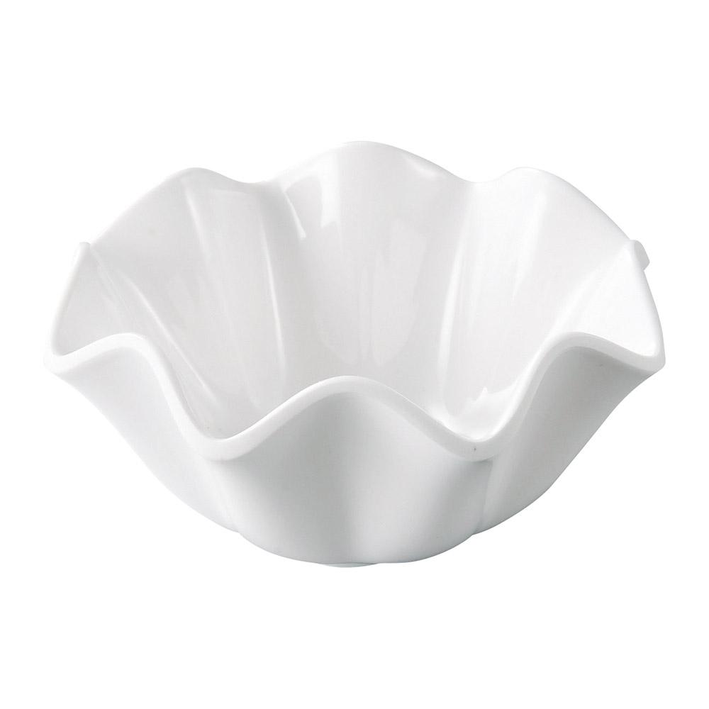 [M]φ11.6花型深小鉢 白グロス