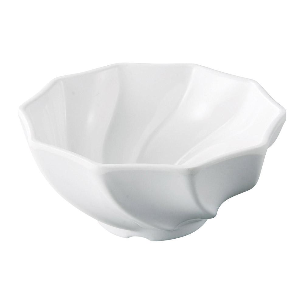 [M]11.8ねじり十角鉢 白グロス
