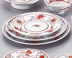 手描華紋9寸メタ丸皿