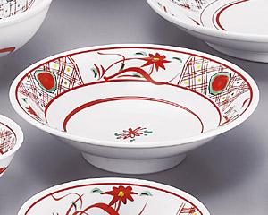 手描華紋7.0高台皿