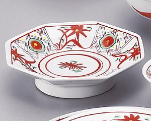 手描華紋6.5八角高台皿