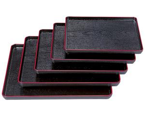 [TA]耐熱大寿木目盆 黒天朱SL尺5