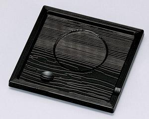 [A]角茶碗蒸し台 黒木目