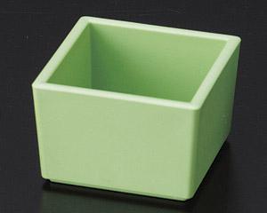 [P]角型珍味(樹脂製) グリーン