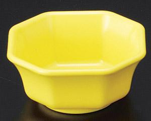 [P]隅切ミニ角鉢(樹脂製) イエロー