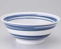 流水ブルー6.5反高台丼