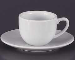 玉子コーヒーカップと受皿