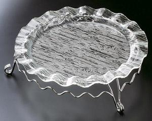 [AC]さざ波ウエーブ盛皿38cm(皿のみ)スタンドは別売り