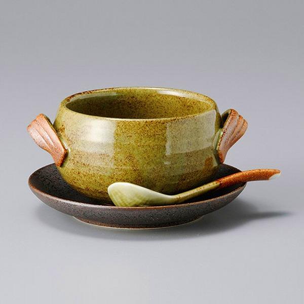 古染手付シチューボール(受皿とスプーンは別売り) 画像