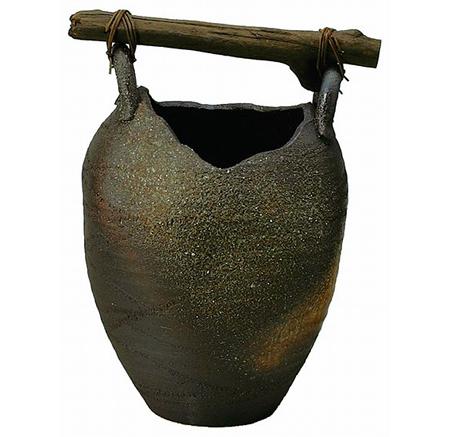 壷型流木傘立 画像