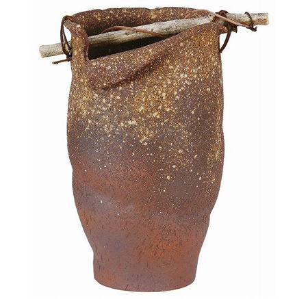 古信楽手桶型傘立 画像