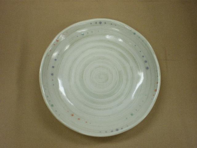 水玉粉引うず3.5皿