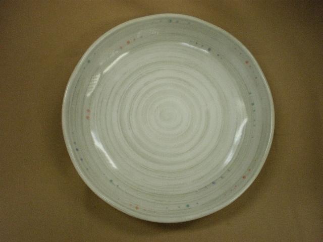 水玉粉引うず5.0皿